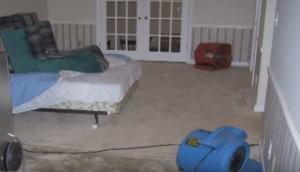 Water Damage Restoration In A Bedroom